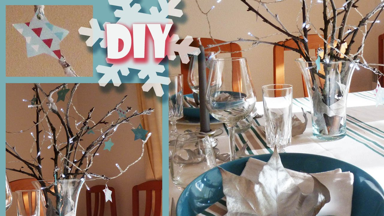 Diy no l d co de table pour no l id e originale et pas for Idee deco table de noel