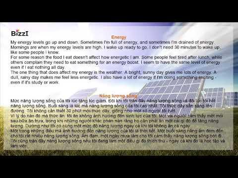 [BIZZI ENGLISH] LUYỆN NGHE THEO CHỦ ĐỀ – NĂNG LƯỢNG (ENERGY)