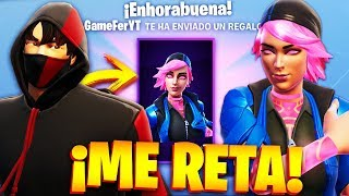 CHICA GAMER CHALLENGES me for the NEW SKIN OF RAYO CREPUSCULAR in FORTNITE!... 🔥😱