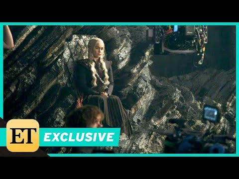 'Game of Thrones' Stars Kit Harington and Emilia Clarke Go Behind the Scenes of an Iconic Set