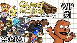 Quest & Click 2D  - Combat WIP - Video 1 ( Tyranobuilder )