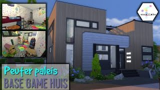 PEUTER PALEIS || Modern Base Game Huis // Sims 4 Speed Build (Nederlands)