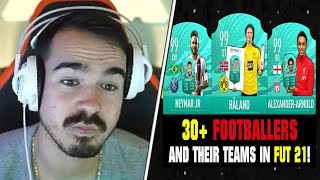 30+ FUSSBALLER-Teams in FIFA 21😱🔥 | Reaktion