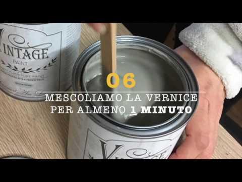 Credenza Vintage Per Cucina : Coloriamo una vecchia credenza con la vintage paint youtube
