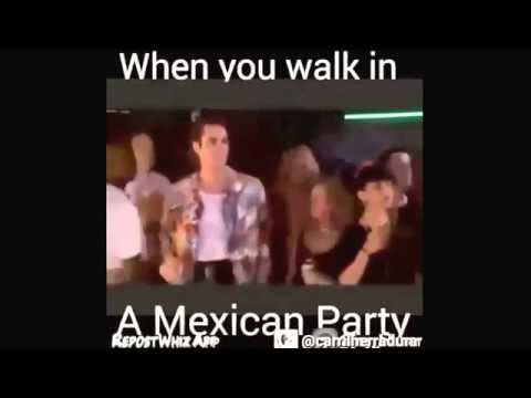 When you walk into a Mexican Party lol