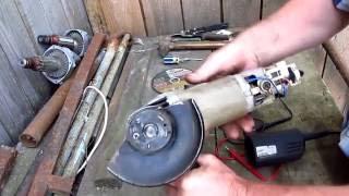 Интерскол 125  ремонт кнопки, щёток и защитного кожуха
