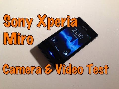 Sony Xperia Miro Camera & Video Test