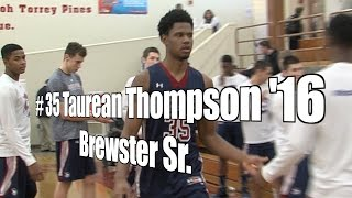 Taurean Thompson '16, Brewster Senior at 2015 UA Holiday Classic
