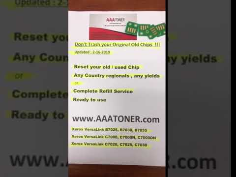 Reset your old / used Toner Drum Chip for Xerox VersaLink B7025, B7030,  B7035 Refill by AAATONER COM