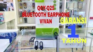 Unboxing HEADSET Bluetooth Vivan QCY-Q25 (Garansi 1 tahun )