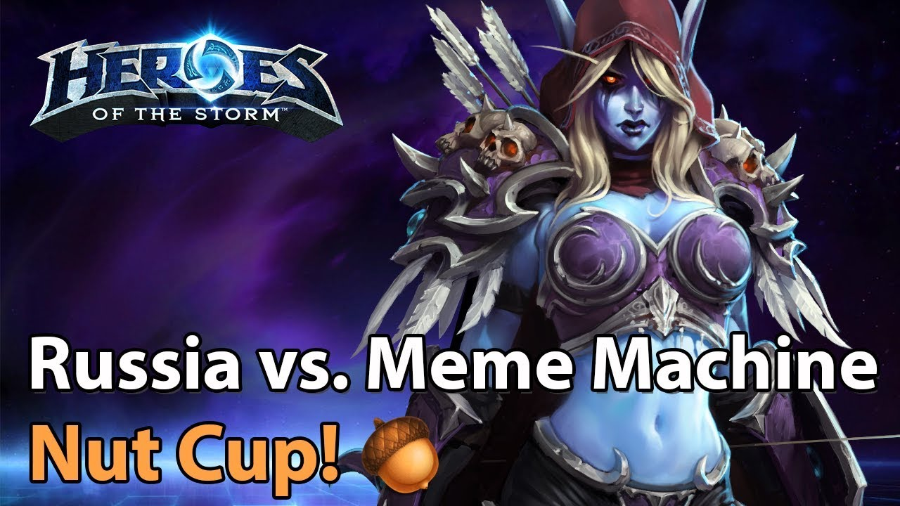 ► Heroes of the Storm: Team Russia vs. Meme Machine - Nut Cup