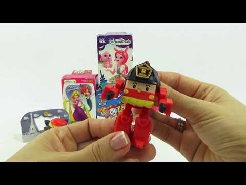 Сюрпризы и игрушками из любимых мультиков для детей.