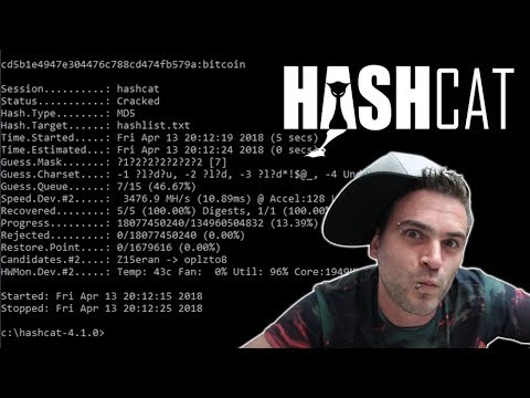 First Time Using Hashcat