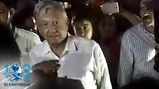 """""""No merezco este trato"""", dice AMLO a manifestantes que irrumpen en su hotel"""