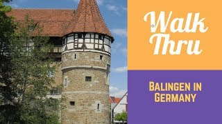 Walking through: Balingen in GERMANY