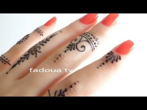اسهل رسم الحنة في اقل من 3 دقائق الجزء التاني Fadoua Tv Youtube