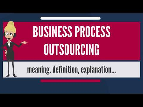 What is BUSINESS PROCESS OUTSOURCING? What does BUSINESS PROCESS OUTSOURCING mean?