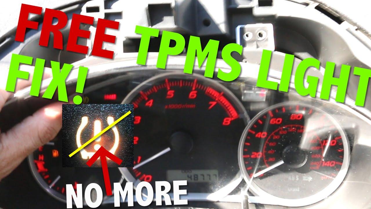 Fix Your Subaru Wrx Sti Tpms Sensor Light For Free Youtube