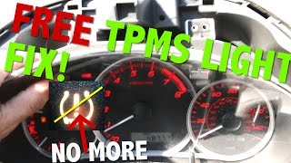 FIX YOUR SUBARU WRX/STI TPMS SENSOR LIGHT FOR FREE!!!!