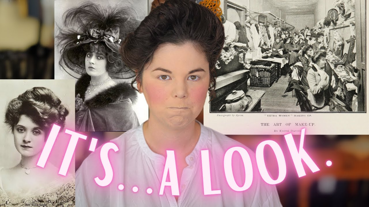 I tried following an Edwardian Make-Up Tutorial from a 1901 Cosmopolitan Magazine 😬😬😬