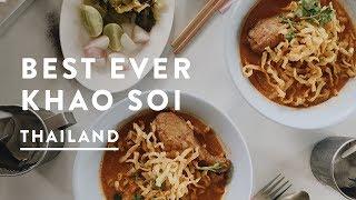 BEST KHAO SOI IN CHIANG MAI | Thailand Digital Nomad Travel Vlog 045, 2017
