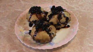 Ароматные кексы с черной смородиной