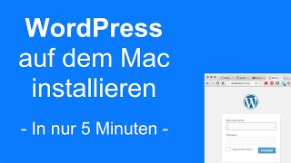 WordPress auf dem Mac installieren