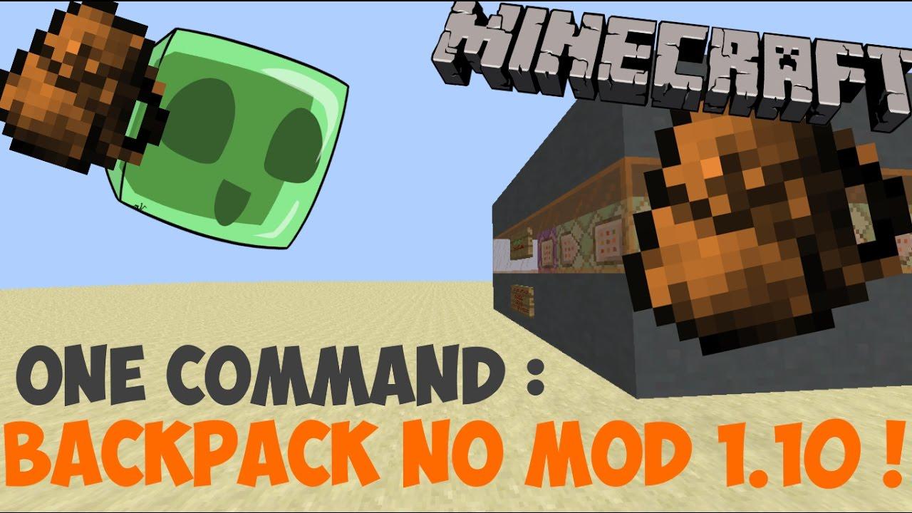 Connu NO MOD] - Un sac à dos dans minecraft ! (1.10+) - YouTube CZ88
