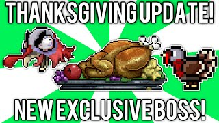 Terraria: Turkor Thanksgiving Boss! (turkey Feather, Cursed Stuffing, & Horn 'o' Plenty) // Demize
