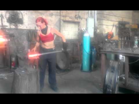 Blacksmithing Ornamental Scrolls At Work Youtube