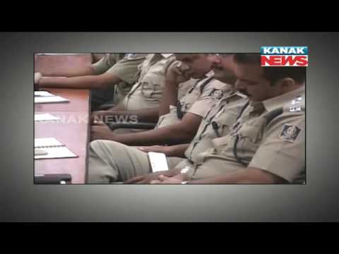Police Officers Busy With Mobile In Meeting In Balasore