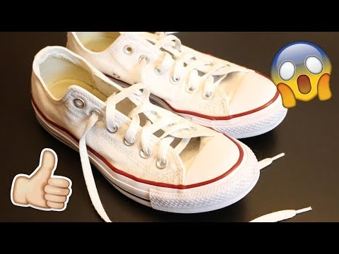 HOW TO CLEAN WHITE CONVERSE! Make them look brand new!