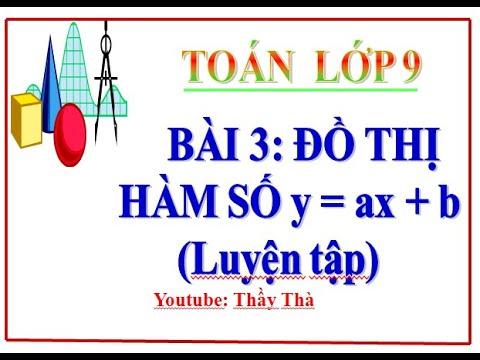 Đồ thị hàm số y=ax+b – Luyện tập/ Hàm số bậc nhất/Đại số 9/Toán lớp 9