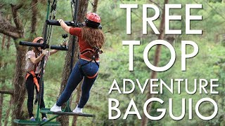 FIRST TIME! TREE TOP ADVENTURE BAGUIO!