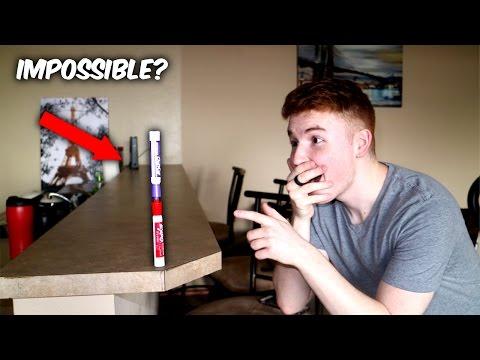 LANDING THE IMPOSSIBLE MARKER FLIP ( Insane Marker Flip Trick Shots )