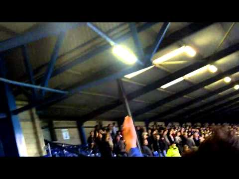 bury fans at full time vs huddersfield!