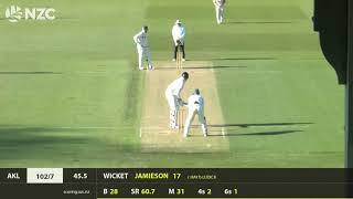 Auckland Aces v Central Stags, 3rd Innings Highlights, Round 1, Plunket Shield 19-20