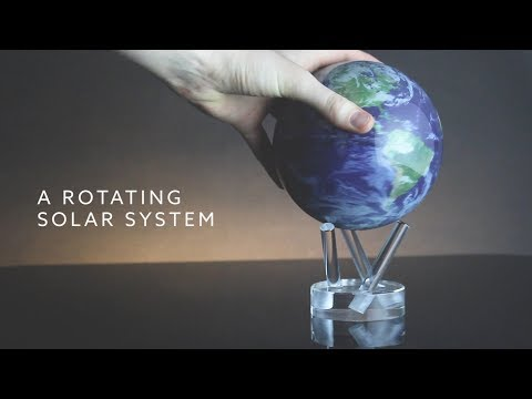 MOVA Globes - A Rotating Solar System Powered By Light