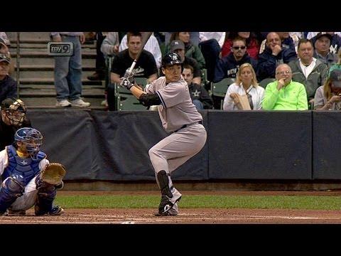 NYY@MIL: Tanaka strikes out in first career at-bat