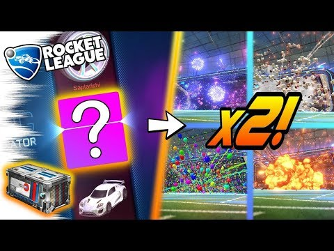 CRATE GLITCH = 2 GOAL EXPLOSIONS! ACCELERATOR Rocket League CRATE OPENING! Painted Wheels Trade Ups!