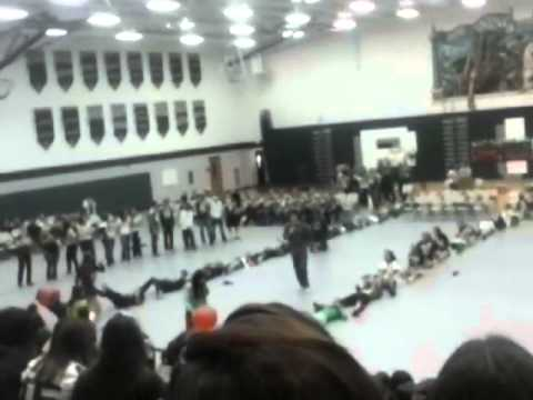 Pinconning High school Homecomming pep assembly