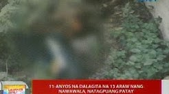 UB: 11-anyos na dalagita na 13 araw nang nawawala, natagpuang patay sa Los Baños, Laguna
