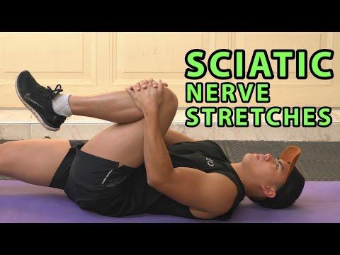 Top 3 Sciatica & Pinched Nerve Stretches | Leg Pain Disc Slip