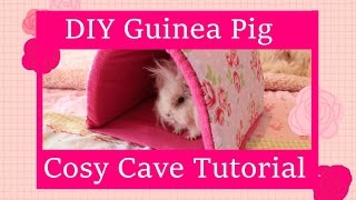 DIY Guinea Pig Cosy Cave Tutorial