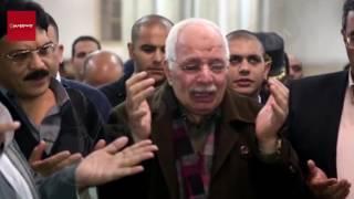 بالفيديو والصور.. انهيار أسرة وزملاء شهيد ''انفجار الهرم'' أثناء جنازته