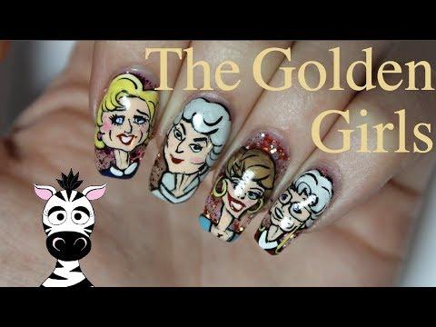 Golden Girls Nail Art Tutorial | Feat Madam Glam Green Hearts | MelodyMinutes thumbnail