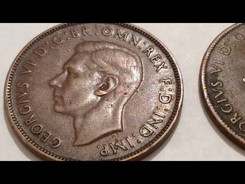 1941 One Penny Coin Collection King George Vl Australia 🇦🇺 UK 🇬🇧 Coins Numismatic