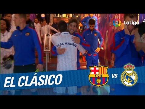 Túnel de vestuarios del FC Barcelona vs Real Madrid