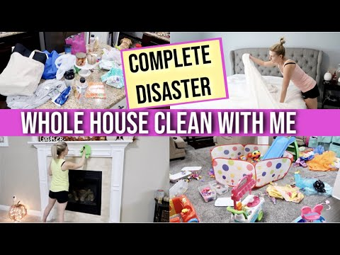 *HUGE* COMPLETE DISASTER 😱 | SUPER MESSY WHOLE HOUSE CLEAN WITH ME 2019 | MAJOR CLEANING MOTIVATION