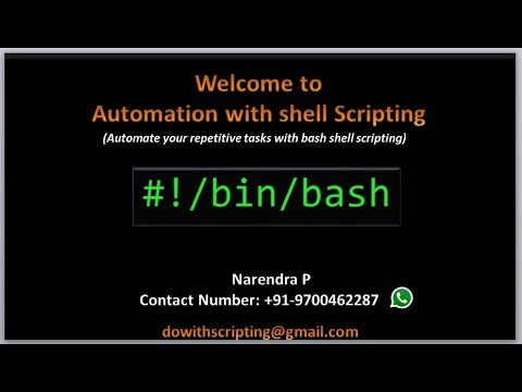 Complete Shell Scripting Tutorials |  Introduction To Shell Scripting